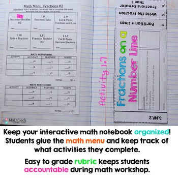 3rd Grade FRACTIONS Interactive Notebook