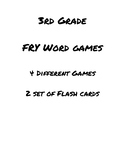 3rd Grade FRY Words Games and Flash Cards