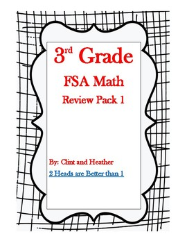 3rd Grade FSA Math Review Pack 1