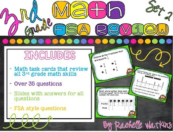 3rd Grade FSA Math Review for all Common Core Standards Set 2
