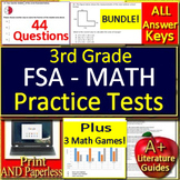 3rd Grade FSA Math Prep Practice Tests AND Games Bundle!