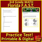 3rd Grade FSA Math Test Prep Practice - Print + SELF-GRADING GOOGLE FORMS!