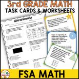 3rd Grade FSA Math Test Preparation Worksheets and Task Cards