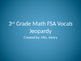 3rd Grade FSA Math Vocabulary Jeopardy