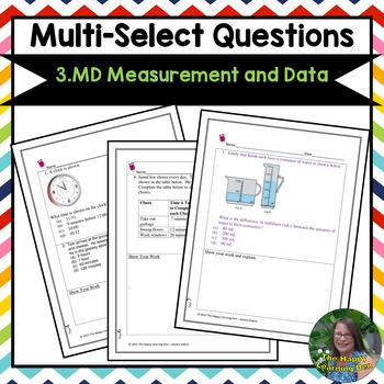 FSA 3rd Grade Practice: Multi-Select Questions- Measurement and Data