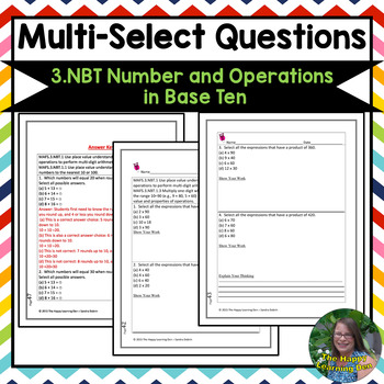 FSA Math Test Prep Grade 3 Number and Operations in Base Ten
