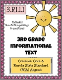 3rd Grade FSA Informational Text - 3.RI.1.1