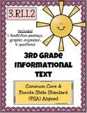 FREEBIE 3rd Grade FSA Informational Text - 3.RI.1.2