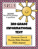 3rd Grade FSA Informational Text- 3.RI.1.3
