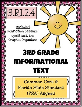 3rd Grade FSA Reading Practice - 3.RI.2.4