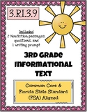 3rd Grade FSA Informational Text - 3.RI.3.9