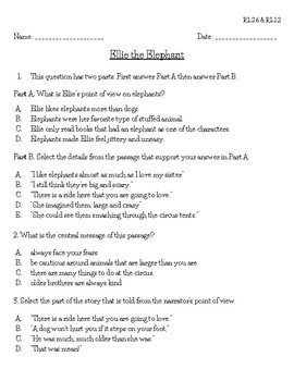 Free 3rd Grade Fsa Reading Practice 3rl26 By Stephanie Shepard