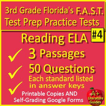 3rd Grade FSA Reading Test Prep Practice Set, Print and ...