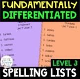 3rd Grade FUNdamentally Differentiated Spelling Lists w/Ac