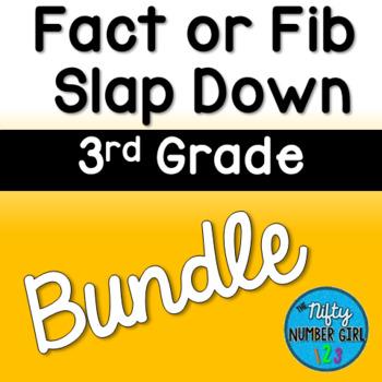 3rd Grade Fact or Fib Slap Down BUNDLE