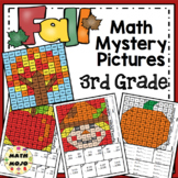 3rd Grade Fall Math Mystery Pictures: Fall Color By Number Activities