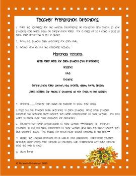 3rd Grade Thanksgiving Fall Wreath Fraction Glyph