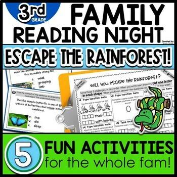 3rd Grade Family Night Escape the Rainforest