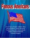3rd Grade Famous Americans-Unit-Reading Comprehension-Social Studies