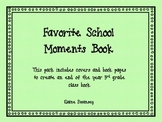 3rd Grade Favorite Moments Book {An End of the Year Writing Activity}