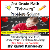 3rd Grade February Problem Solving: Daily Multi-Step (Two-Step) Math Problems