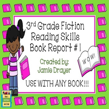 3rd Grade Fiction Book Report Trifold Brochure 1