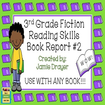 3rd Grade Fiction Book Report Trifold Brochure 2