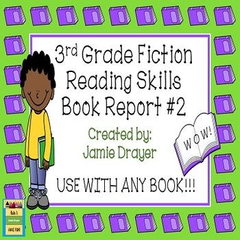 3rd Grade Fiction Book Report Trifold Brochure 2