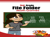 3rd Grade File Folder Math Games