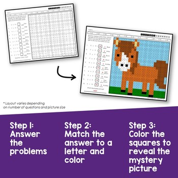 3rd Grade Multiplication Within 100, Find the Product Coloring Worksheets