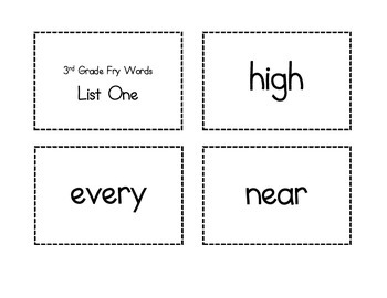 3rd Grade Flash Cards