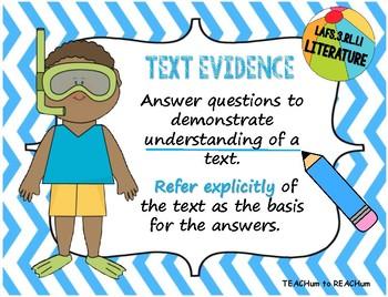 3rd Grade Florida LAFS Literature Standards - Beach Theme