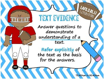 3rd Grade Florida LAFS Literature Standards - Football Theme