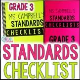 3rd Grade Florida Standards Checklist: Math, Science, ELA, Social Studies BUNDLE