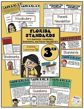 3rd Grade Florida Standards ELA Reading Literature and Informational Text