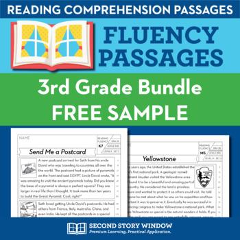 3rd Grade Fluency Homework Sampler (FREE)