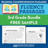 3rd Grade Fluency Homework Sampler (FREE) - Reading Compre