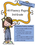 Differentiated 3rd Grade Fluency Passages (40 weeks:3 levels per passage)