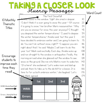 3rd Grade Fluency Passages for December