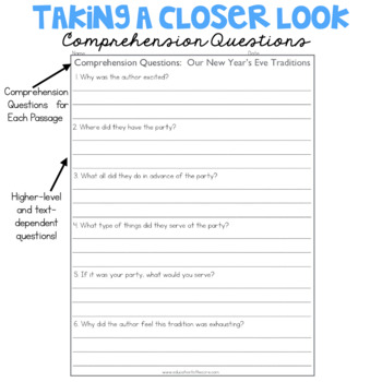 3rd Grade Fluency Passages for January