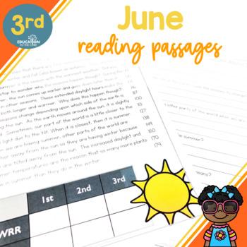 3rd Grade Fluency Passages for June