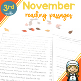 3rd Grade Fluency Passages for November