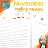 3rd Grade Fluency Passages for November