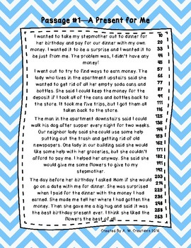 3rd Grade Fluency Passages with Comprehension Questions Set A (#1-10)