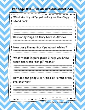3rd Grade Fluency Passages with Comprehension Questions Set B (#11-20)