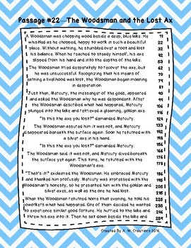 3rd Grade Fluency Passages with Comprehension Questions Set C (#21-30)
