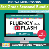 3rd Grade Fluency in a Flash SEASONAL GROWING Digital bund