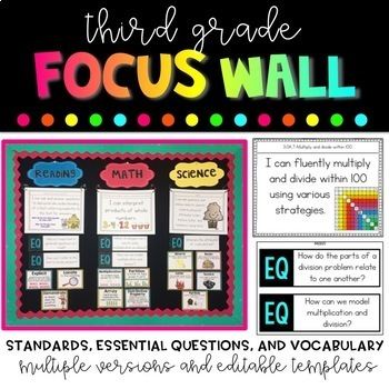 3rd Grade Focus Wall Bundle