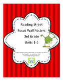 3rd Grade Focus Wall Posters Bundle Reading Street Grade 3, CC 2013