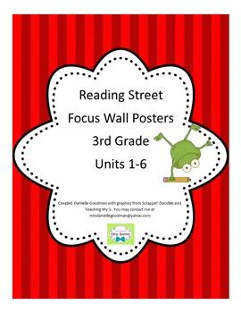 3rd Grade Focus Wall Posters Bundle Reading Street Grade 3, CC 2013